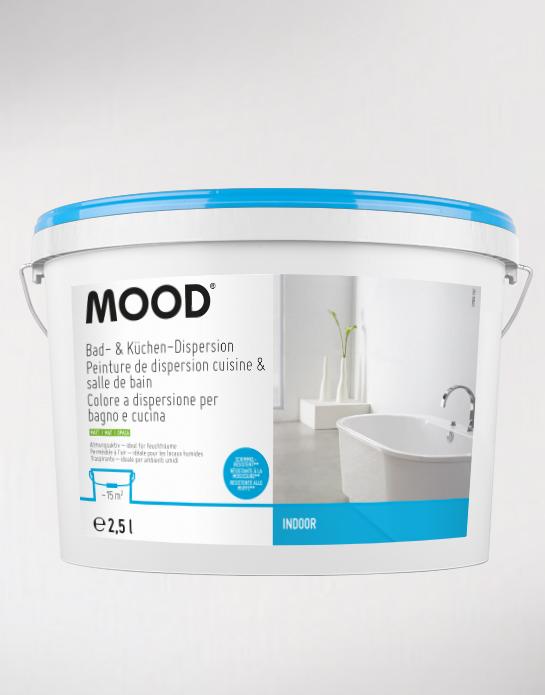 Peinture de dispersion professionnelle mood for Peinture cuisine salle de bain